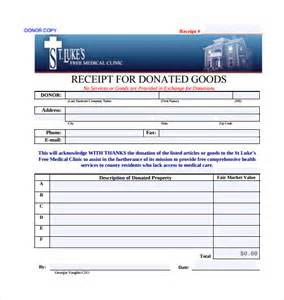 receipt of goods template sle donation receipt template 17 free documents in