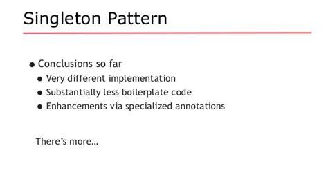 singleton pattern java enum exle java ee revisits design patterns