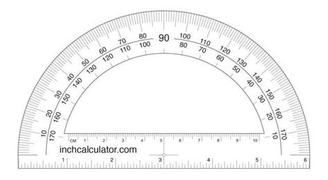 Printable Protractor To Scale | printable protractor download inch calculator