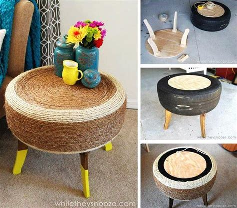 Handmade Materials - 20 creative ideas to reuse and recycle for diy modern tables