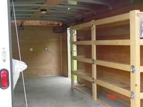 cargo shelving ideas tool storage enclosed trailer tool storage ideas