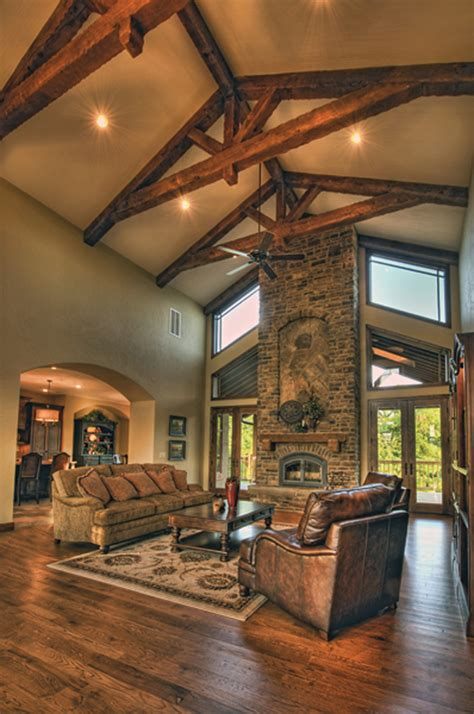 vaulted great room cozy dining room great rooms with vaulted ceilings stone