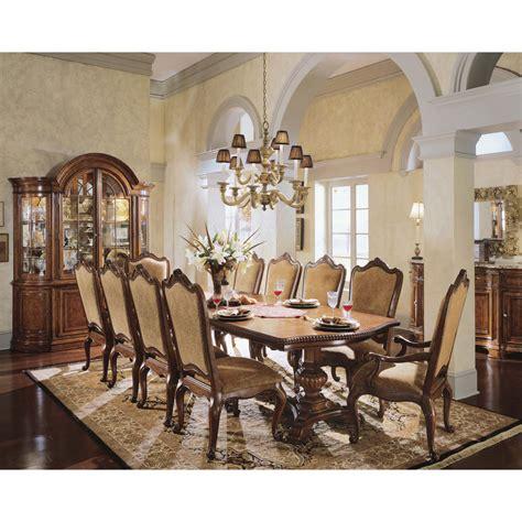 universal furniture villa cortina  piece double pedestal