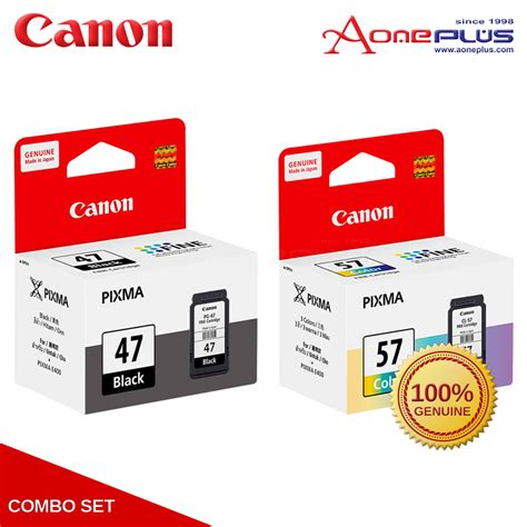 Paketan Canon Pg 47 Cl 57 Original canon pg 47 black cl 57 color ink cartridge 11street malaysia toners inks