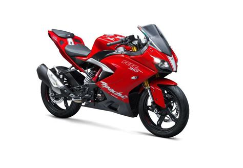 tvs apache rr  launched  india  rs  lakh