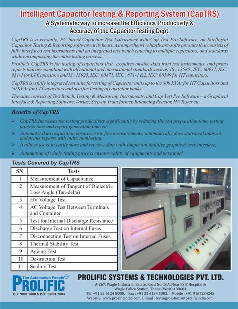 capacitor bank test report capacitor test report 28 images project report on 33kv substation and automatic power factor
