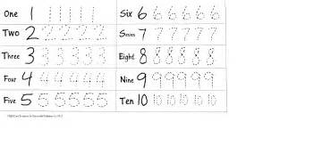 Tracing numbers 1 5 worksheets tracing numbers 6 10 worksheets tracing