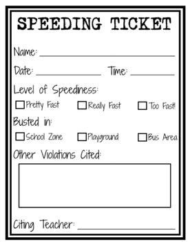 do printable tickets work speeding ticket printable maybe for kids who rush