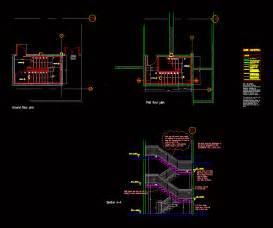 escape staircase dwg detail  autocad designs cad