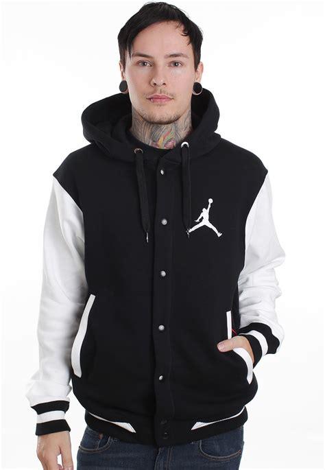 Jaket Varsity Black Nike nike the varsity black black white college jacket streetwear shop impericon worldwide