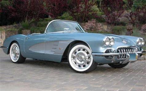 1958 corvette blue silver blue 1958 corvette resto mod