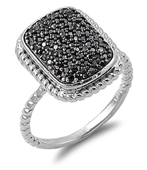micro pave ring new 925 sterling silver rope band ebay