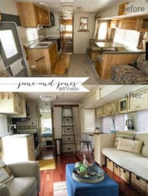 7 Amazing Inside Out Makeovers by 42 Amazing Rv Cer Makeover Ideas Before And After