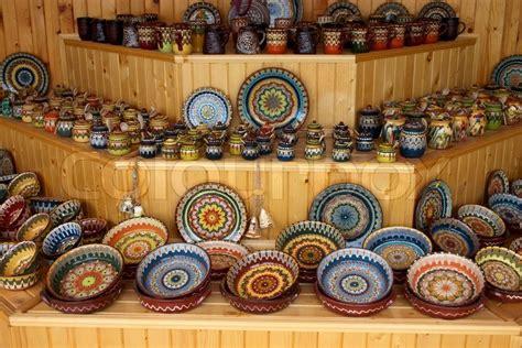 Handmade Crockery - ceramic handmade crockery and dishes in souvenir store