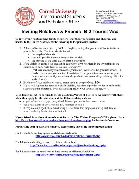Invitation Letter Sle For A Sle Invitation Letter For Visa Sle Invitation Letter For Visa 16 Images Official Immigration