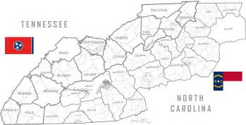 map of carolina and tennessee map