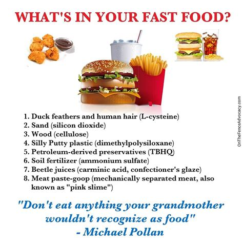 Do You Feed Your Food by What S In Your Fast Food On The Fence