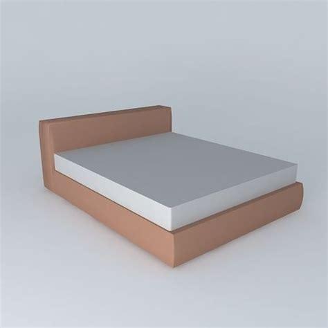 Model Simple Simple Bed 3d Model Max Obj 3ds Fbx Stl Skp Cgtrader