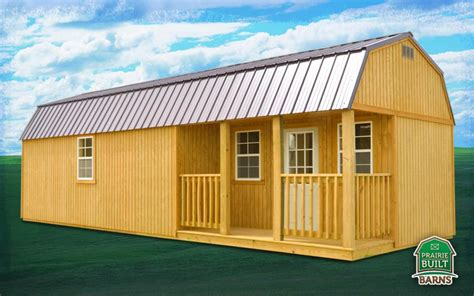 Side Lofted Barn Cabin by Prairie Built Treated Side Lofted Barn Cabin Prairie