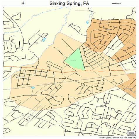 self storage sinking spring pa sinking spring pennsylvania street map 4270880