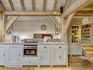 A Frame Kitchen Ideas Exposed Oak Kitchen Interior In Timber Framed Extension
