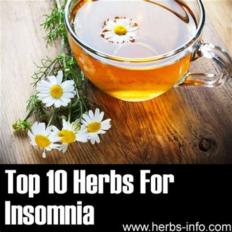 Detox Insomnia Help by Top 10 Herbs For Insomnia Herbs