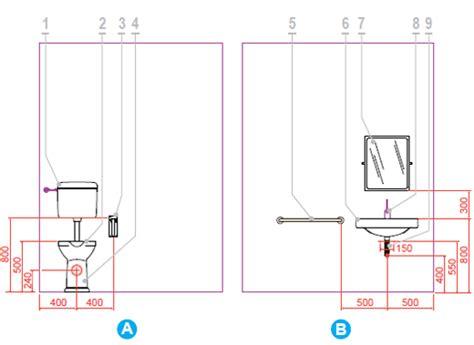 misure scarichi bagno i suggerimenti ponte giulio per un bagno disabili a norma