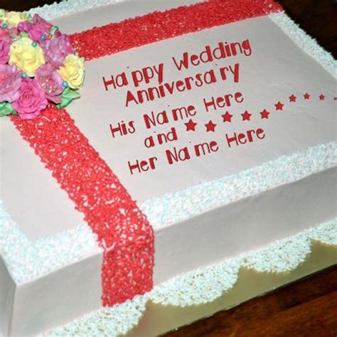 Wedding Anniversary With Your Name Picture Song Message by Wedding Anniversary Names Happy Wedding Anniversary Cake