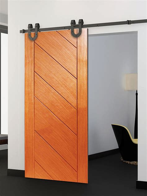 Standard Flat Track Sliding Door Hardware Interior Barn Sliding Interior Barn Doors For Sale