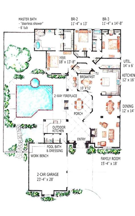 swimming pool house plans 1500 sq ft house plans with swimming pool indoor