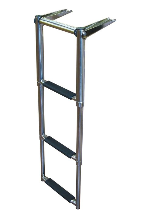 boat ladder 2 step platform telescoping boat ladder 2 step transom boat ladders dockgear