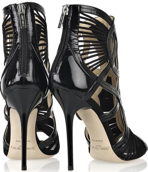 Get Your Groove On With Jimmy Choo Patent Shoes by Heidi Klum And Jimmy Choos Get Slimed At The