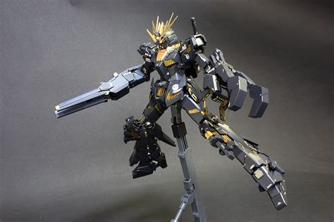 Mg 1100 Unicorn 02 Banshee gundam mg 1 100 rx 0 unicorn gundam 02 banshee painted build