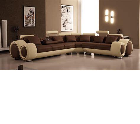 Sofa Casa Leather by Dreamfurniture Divani Casa 4087 Modern Bonded
