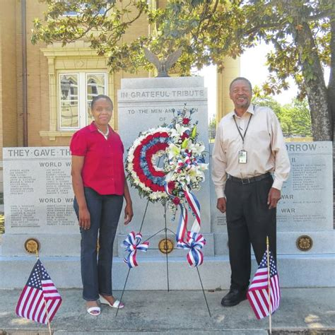 Anson County Records Anson Record Wreath Laid By Anson County Veterans Memorial For Memorial Day