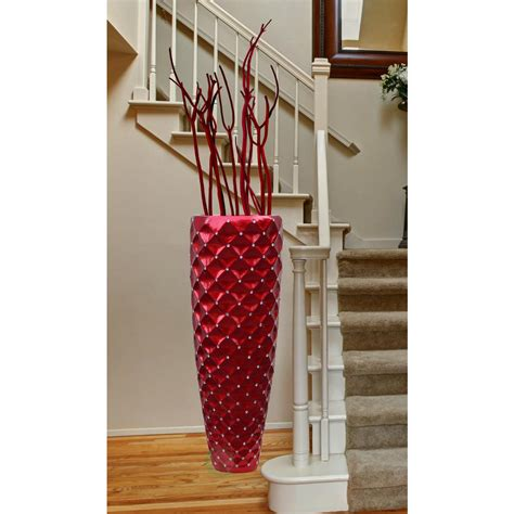 home decor vases tall uniquewise 15 5 in w x 15 5 in d x 44 in h magnesium