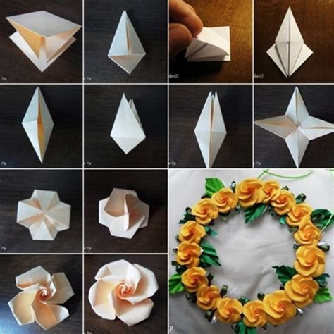 How To Make Paper Roses Step By Step With Pictures - how to make easy paper flowers step by step www imgkid