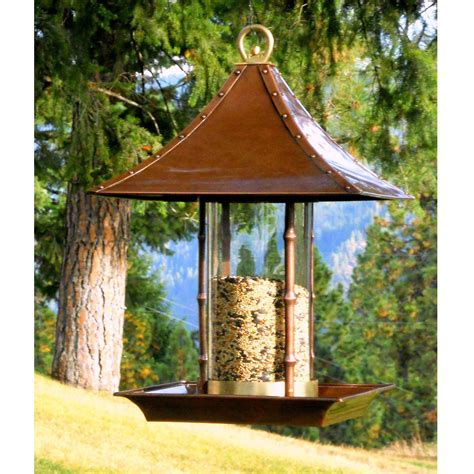 Outside Bird Feeders Metal And Glass Asian Style Bamboo Bird Feeder
