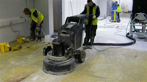 Diamond Grinding Floor Preparation using HTC Grinder (1