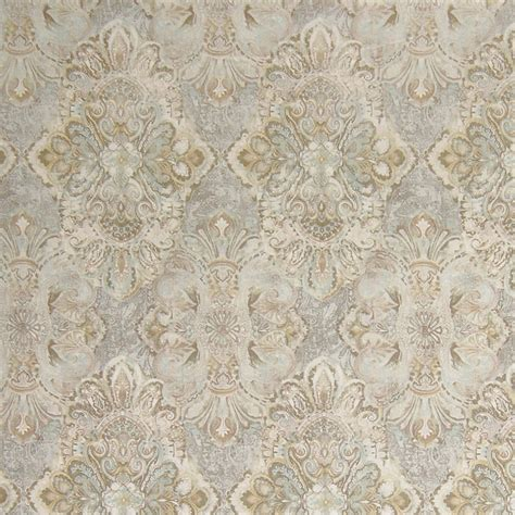 Neutral Upholstery Fabric by Kovi Fabrics Pewter Neutral Medallion Linen Print