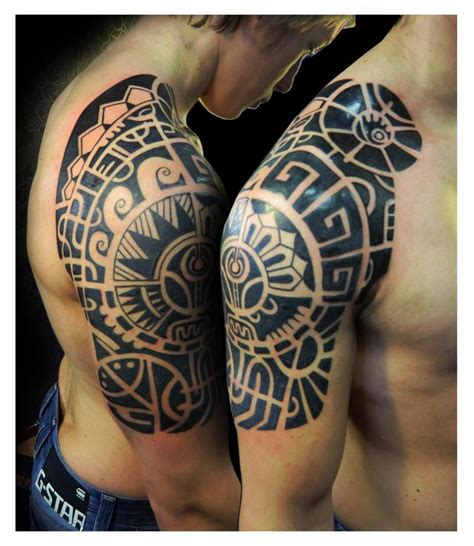 top half sleeve tattoo designs polynesian tattoos designs ideas and meaning tattoos