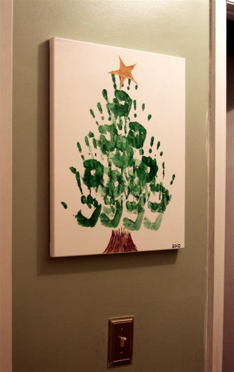 hand print christmas tree tutorial u create