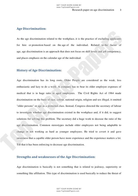 Age Discrimination Essay by Age Discrimination Academic Essay Assignment Www Topgradepapers C
