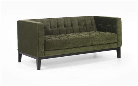 loveseat tufted armen living roxbury loveseat tufted green fabric al