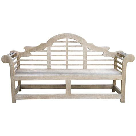 lutyens bench teak fine english vintage lutyens bench made in teak at 1stdibs