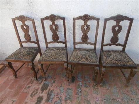 sillas antiguas en venta 4 antiguas sillas de madera tapizadas para rest comprar
