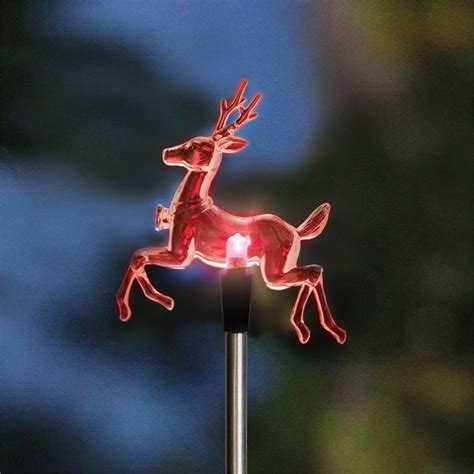 lytworx 760mm colour changing solar reindeer stake light