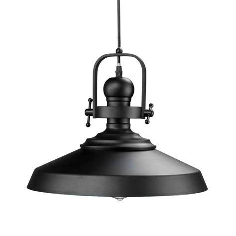 Matte Black Pendant Light Dido 1 Light Matte Black Pendant L Hd88159 The Home Depot