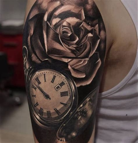 clock tattoo sleeve clock sleeve www pixshark images galleries