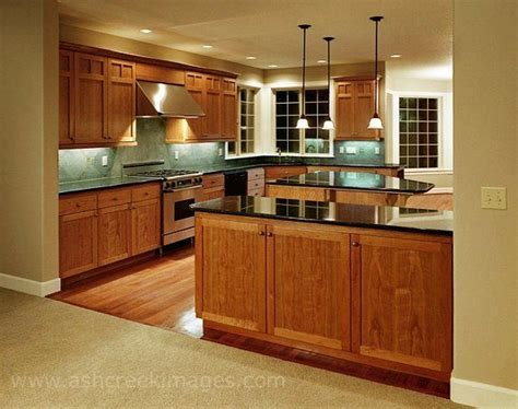 kitchen oak cabinets countertops floor and backsplash